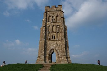 The Tower of the ruined church on Glastonbury Tor