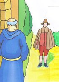 Illustration of an old fashioned Pilgrim